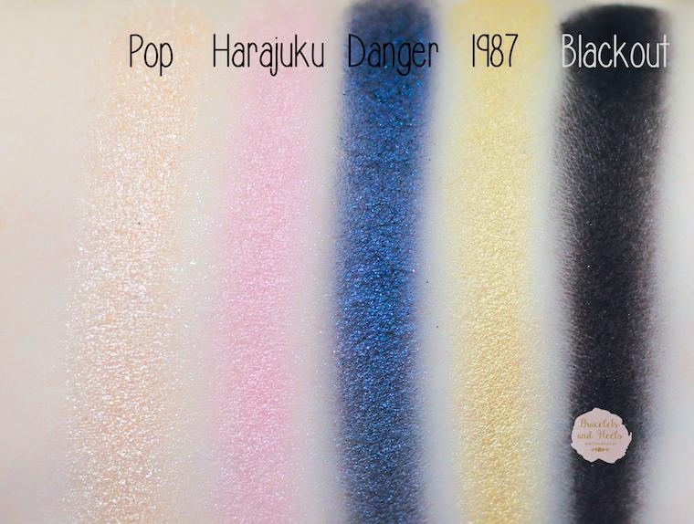 Swatches Urban Decay Gwen Stefani Eyeshadow Palette