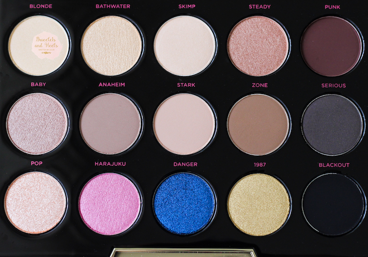Urban Decay Gwen Stefani Eyeshadow Palette Colors
