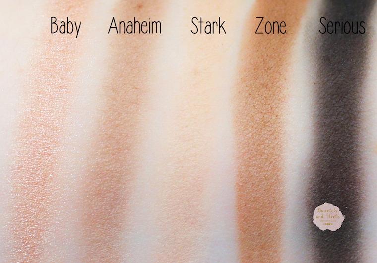 Urban Decay Gwen Stefani Swatches
