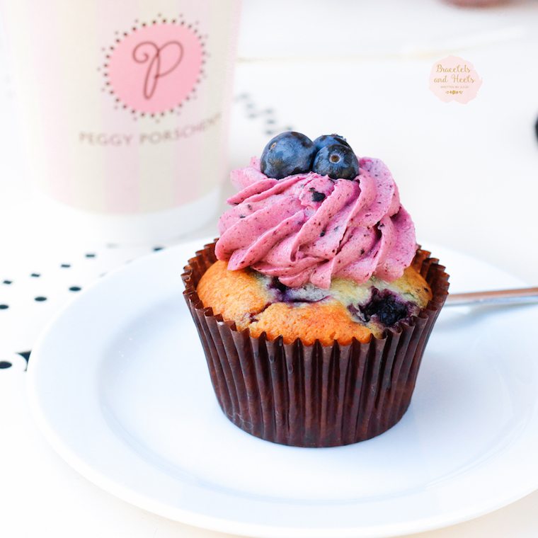 Peggy Porschen Blueberry and Buttermilk Cupcake